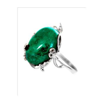 Серебряное кольцо Турмалин и Фианит арт. 4к-80274-04 4к-80274-04