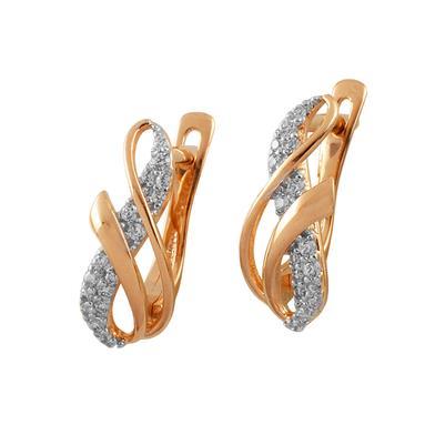 Золотые серьги с фианитом арт. 3376 3376