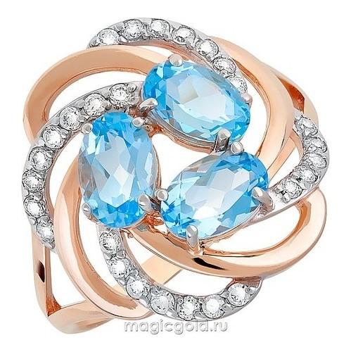 Золотое кольцо Топаз и Фианит арт. кл-462к-т кл-462к-т