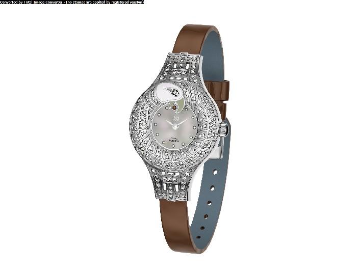 Женские часы из серебра с кристаллом сваровски арт. 1903.64.9.37 1903.64.9.37