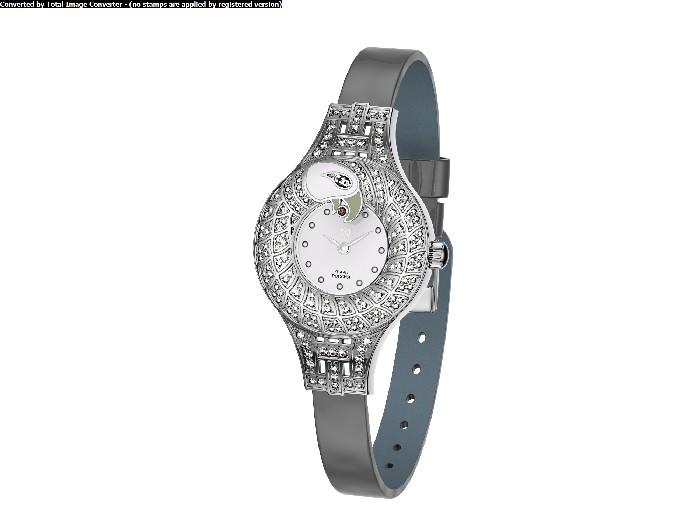 Женские часы из серебра с кристаллом сваровски арт. 1903.64.9.17 1903.64.9.17