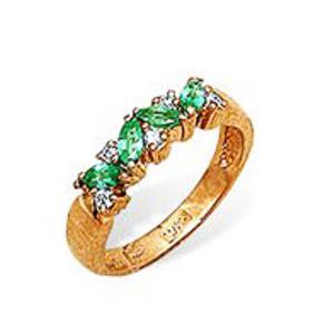 Золотое кольцо Бриллиант и Изумруд арт. 34000184 34000184