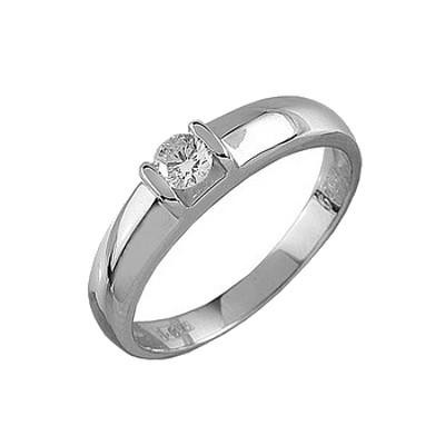 Помолвочное кольцо из белого золота с бриллиантом Бриллиант арт. 90242 90242