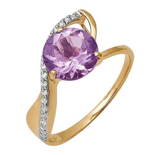 Золотое кольцо Аметист и Бриллиант арт. 125017 125017
