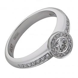 Кольцо из белого золота Бриллиант арт. 010505 010505