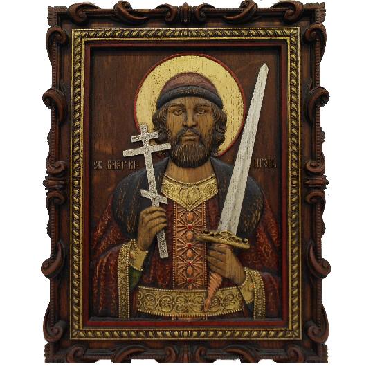 Икона с кристаллом сваровски Игорь святой князь арт. ИгорьКн 1.43.37.1 ИгорьКн 1.43.37.1