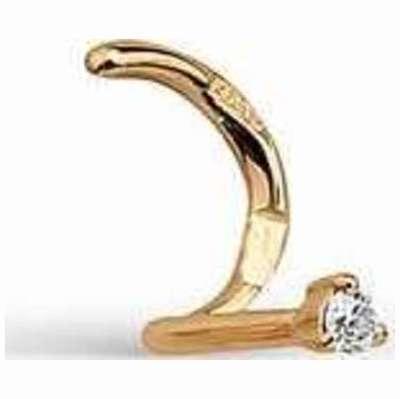 Пирсинг в нос из золота с бриллиантом арт. 7008-100 7008-100