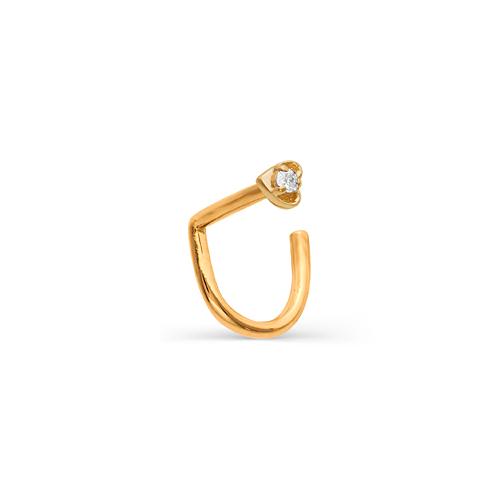 Пирсинг в нос из золота с бриллиантом арт. 7014-100 7014-100