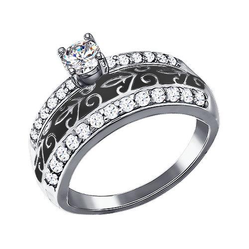 Серебряное кольцо Фианит и Эмаль арт. 94011127 94011127