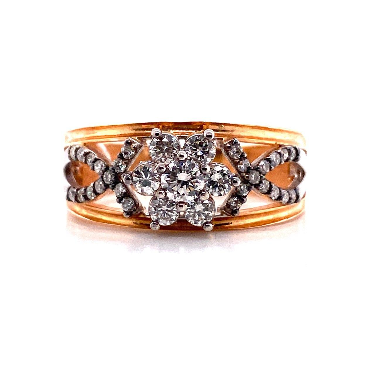 Кольцо из лимонного золота Бриллиант арт. 1122б 1122б