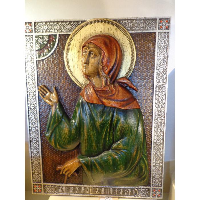 Икона с кристаллом сваровски Ксения святая блаженная арт. КсенияПитер 1.32.25 КсенияПитер 1.32.25
