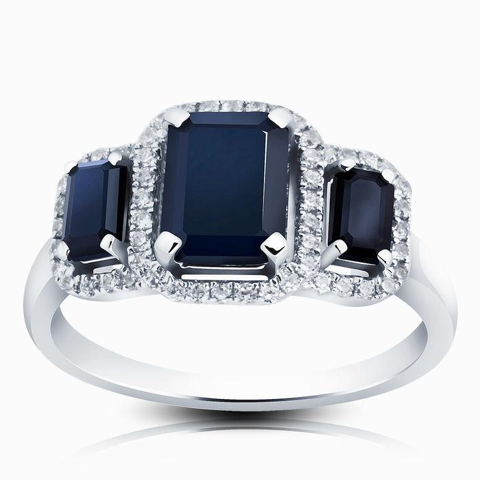 Серебряное кольцо Сапфир и Фианит арт. 01711 01711