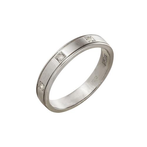 Обручальное кольцо из белого золота с бриллиантом арт. 14000077 14000077