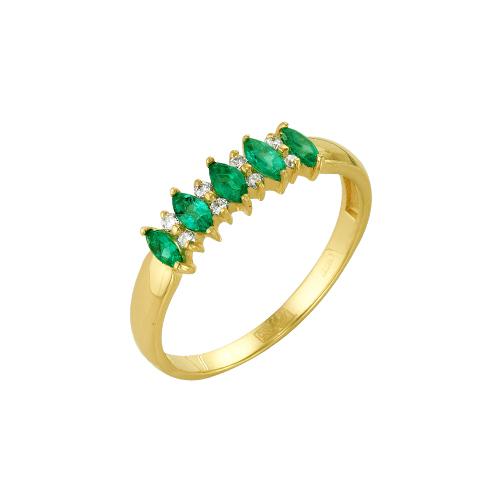 Кольцо из лимонного золота Изумруд арт. 64000117 64000117