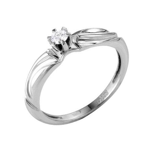Кольцо из белого золота Бриллиант арт. 64000073 64000073