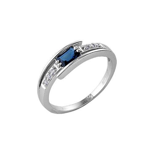 Кольцо из белого золота Бриллиант и Сапфир арт. 64000267 64000267