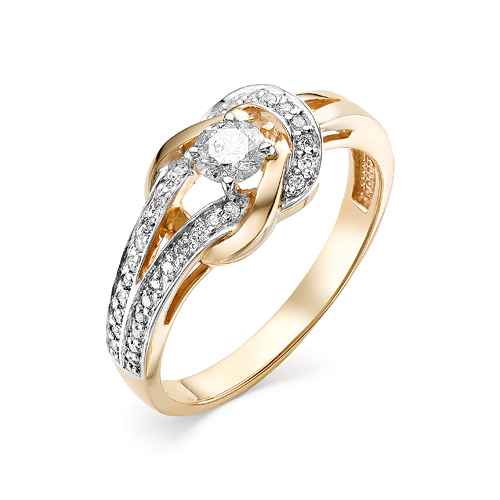 Кольцо из белого золота Бриллиант арт. 1-106-403 1-106-403