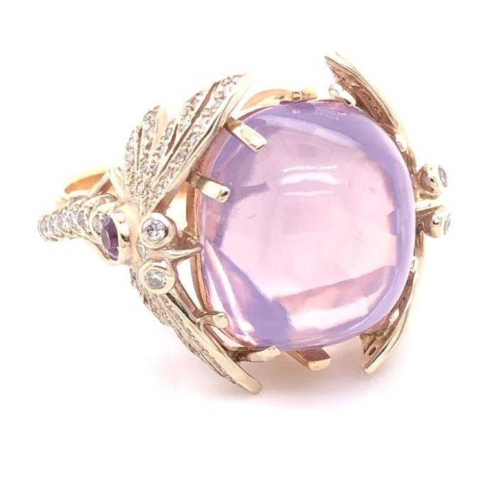 Золотое кольцо Аметист и Бриллиант арт. 91622067 91622067