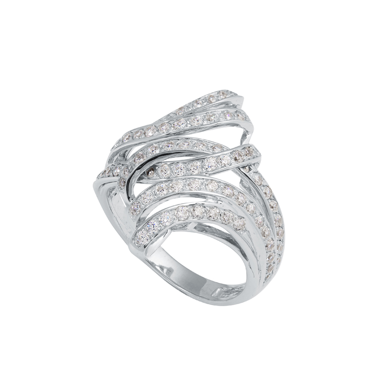 Кольцо из белого золота Фианит арт. к421 к421