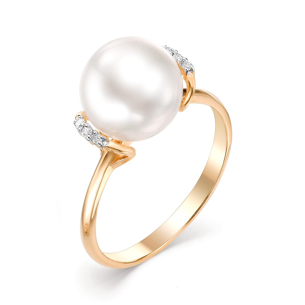 Золотое кольцо Жемчуг и Фианит арт. 31351A1 31351A1