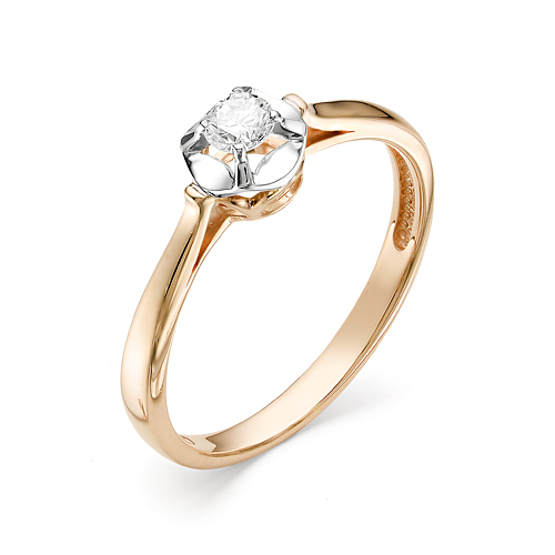 Кольцо из белого золота Бриллиант арт. 1-106-260 1-106-260