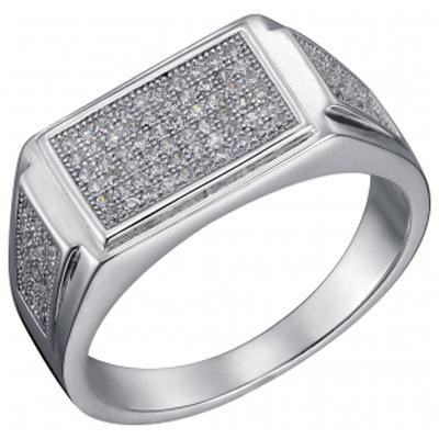 Серебряная печатка с цирконием Фианит арт. sb3r 84 sb3r 84