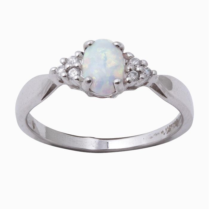 Серебряное кольцо Опал и Фианит арт. 08824 08824