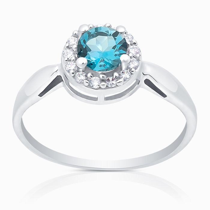 Серебряное кольцо Топаз и Фианит арт. 05325 05325