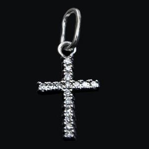 Серебряный крест с сапфиром арт. 03,00027 03,00027