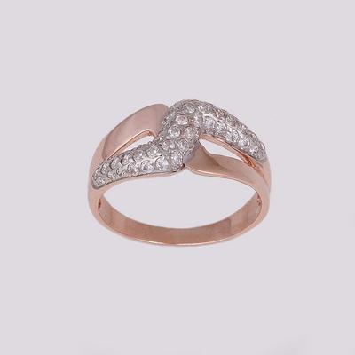 Кольцо серебряное с позолотой Фианит арт. 14774-зр 14774-зр