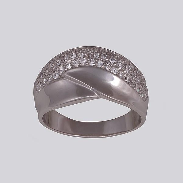 Кольцо серебряное с позолотой Фианит арт. 14812-зр 14812-зр