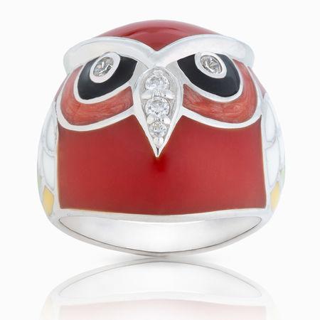 Серебряное кольцо Фианит и Эмаль арт. 03483 03483