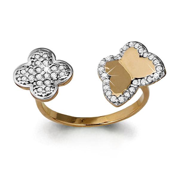 Золотое кольцо Фианит арт. 64007а 64007а