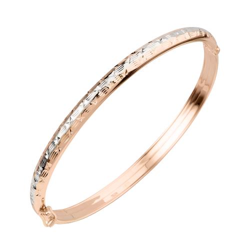 Жесткий браслет из золота с алмазной гранью арт. а 022065 а 022065