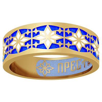 Кольцо серебряное с позолотой Эмаль арт. 15.213 15.213