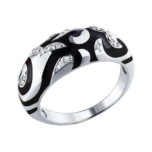 Серебряное кольцо Фианит и Эмаль арт. 94010410 94010410