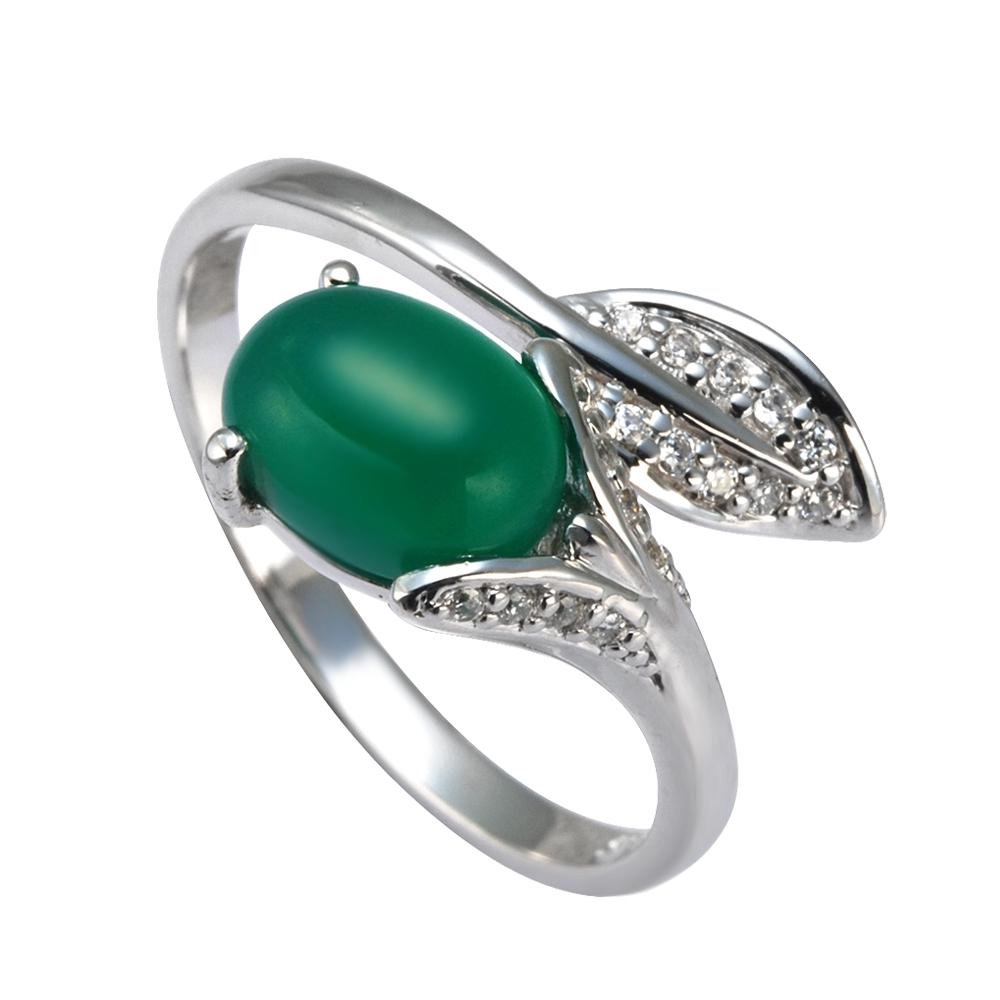 Серебряное кольцо Агат и Фианит арт. 41100044 41100044