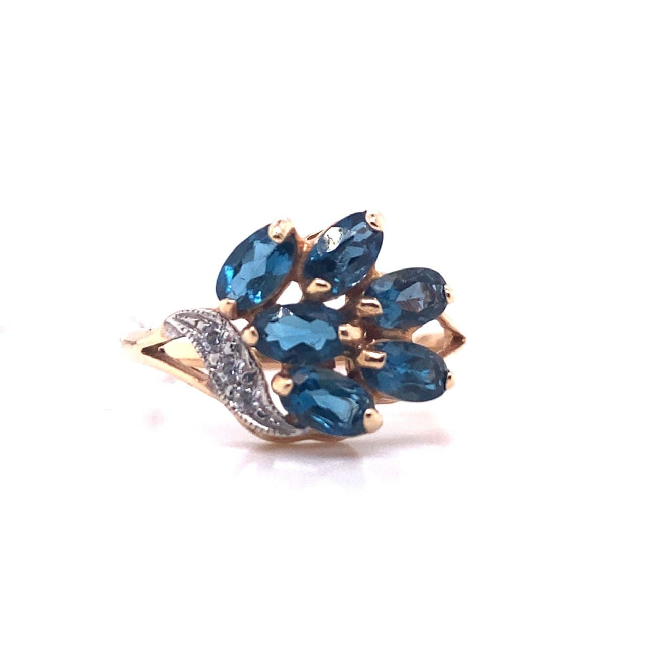 Золотое кольцо Топаз и Фианит арт. 11004Тл 11004Тл