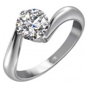 Кольцо из белого золота Бриллиант арт. 01089-1 01089-1