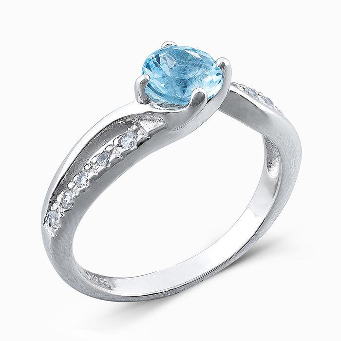 Серебряное кольцо Топаз и Фианит арт. 04854 04854