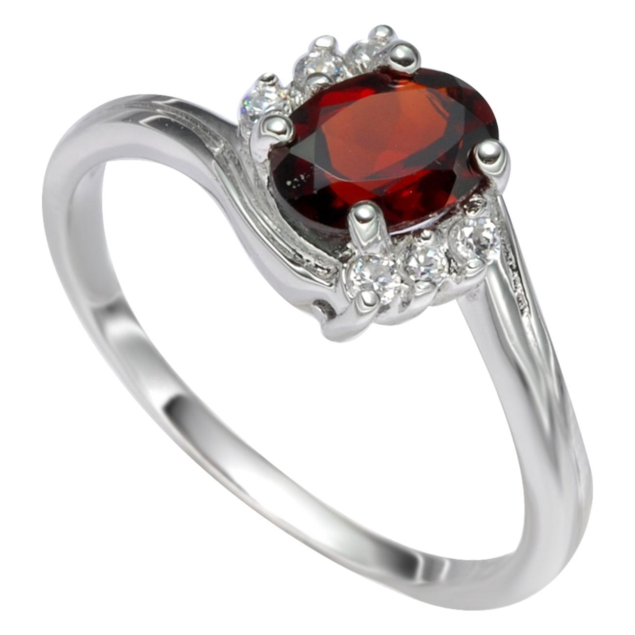 Серебряное кольцо Гранат и Фианит арт. 41100007 41100007