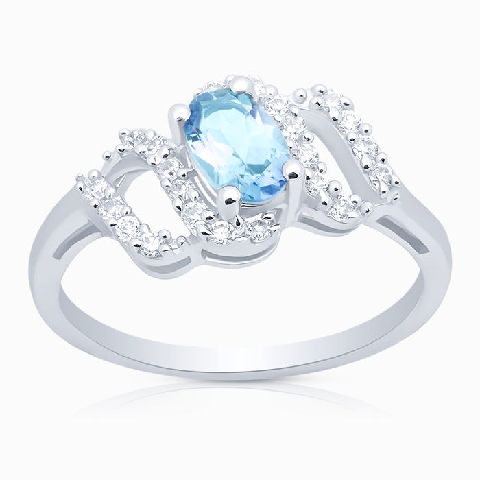 Серебряное кольцо Топаз и Фианит арт. 06553 06553