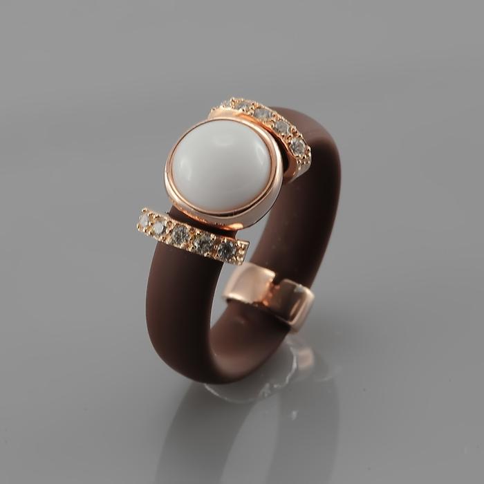 Серебряное кольцо Каучук, Прочие и Фианит арт. a5pmy4 a5pmy4