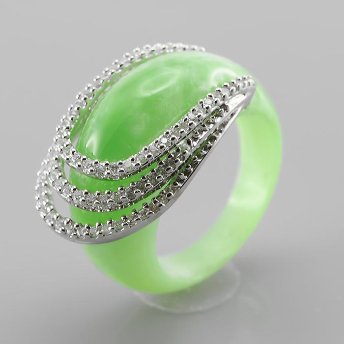 Серебряное кольцо Каучук и Фианит арт. adr09056 adr09056