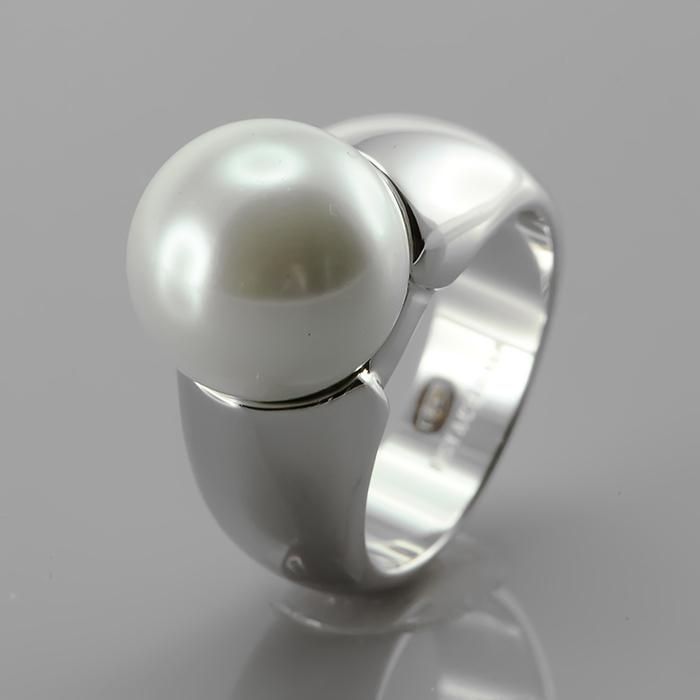 Серебряное кольцо Жемчуг и Фианит арт. r903478 r903478