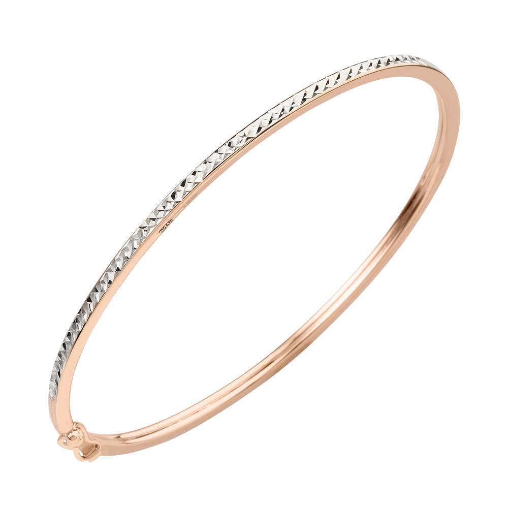 Жесткий браслет из золота с алмазной гранью арт. а 022125 а 022125
