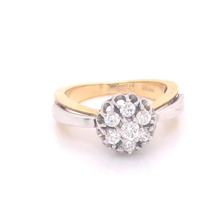 Кольцо из лимонного золота Бриллиант арт. R1192101-02 R1192101-02