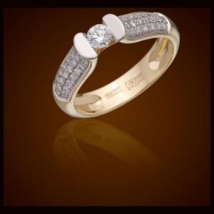 Кольцо из белого золота Бриллиант арт. R1159101-01 R1159101-01