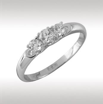 Помолвочное кольцо из белого золота с бриллиантом Бриллиант арт. 90344 90344