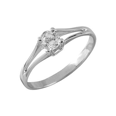 Помолвочное кольцо из белого золота с бриллиантом Бриллиант арт. 90372 90372
